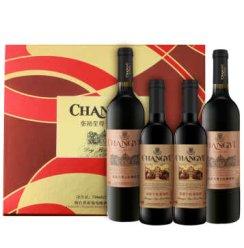 张裕(CHANGYU)红酒 四支装干红大礼盒 2250ml