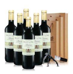 法国进口红酒AOC 巴龙波尔多干红葡萄酒整箱750ml*6 整箱