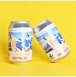 兄弟艾尔易拉罐 听装啤酒精酿淡色艾尔330ml*2罐