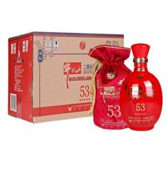 牛栏山 二锅头 国际版 五星红瓷 53度 清香型 白酒 500ml*6瓶 整箱装 高度白酒