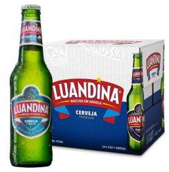 《【苏宁自营】非洲安哥拉 罗安娜大麦芽黄啤酒 330mL*24瓶 55.6元(2件4折)》