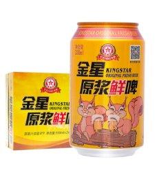《【京东商城】金星啤酒原浆鲜啤8度330ml*24听 39.4元(需用券)》