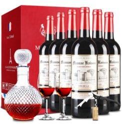 【购1箱得1套酒具】法国原瓶进口红酒凯旋干红葡萄酒礼盒750ml整箱6支装