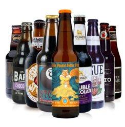 9瓶全球进口世涛精酿 猫头鹰帝国世涛黑啤 创始者巧克力味牛奶世涛妖月精酿啤酒 9瓶世涛组合装