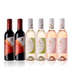 法国原瓶进口红酒 山图(ShanTu)波尔多干红/桃红/干白 六支混合装葡萄酒小瓶装