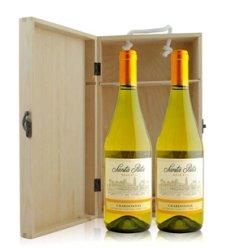 红酒客 智利 桑塔丽塔莎当妮特酿白葡萄酒双支松木礼盒装
