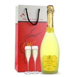 【配2个香槟杯+礼袋】 香醇奥斯曼 起泡酒 女士喜爱红酒 气泡酒葡萄酒 750ml 苹果味