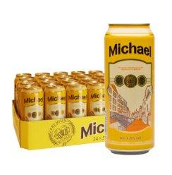 《【京东自营】米歇尔(Michael) 波兰原装进口黄啤酒 500ml*24瓶 78.8元》