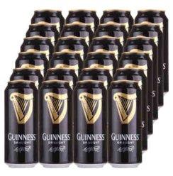健力士 【京东送配】爱尔兰进口guinness黑啤充氮气生啤酒罐装啤酒整箱 24罐装