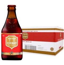 Chimay智美红帽双料啤酒 比利时进口修道院精酿啤酒 330ML*24 整箱装