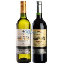 法国 乐骑士红、白葡萄酒组合(美洛+霞多丽)750ml*2瓶