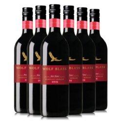 《【京东自营】 (Wolf Blass)纷赋红牌赤霞珠梅洛红葡萄酒*6 131元(需用券)》