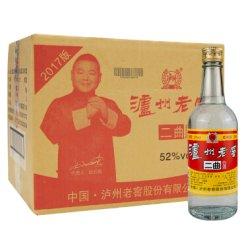 泸州老窖二曲白酒 光瓶二曲整箱白酒 52度500ml*12瓶装