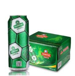 《【京东商城】青岛啤酒足球罐啤酒500ml*12听 36.83元(双重优惠)》
