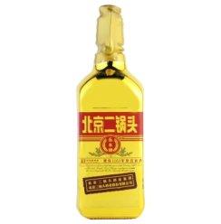 【官方旗舰店】永丰二锅头金瓶 永丰牌北京二锅头(出口型小方瓶)土豪金版 清香型白酒500ml纯粮 1瓶装