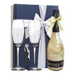精美礼盒 送2个香槟酒杯 西班牙进口 星空酒 火焰酒 甜起泡酒 极光酒 闪闪酒 750ml 冰川银 幻灭重生