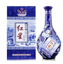 名酒 北京特产 红星二锅头 红星蓝花瓷52度500ml 清香型高度白酒