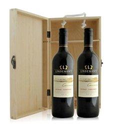 澳大利亚 利达民卡瓦拉西拉赤霞珠干红葡萄酒双支松木礼盒装