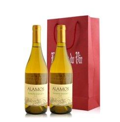 阿根廷 卡氏家族艾拉莫夏多内白葡萄酒双支礼袋装