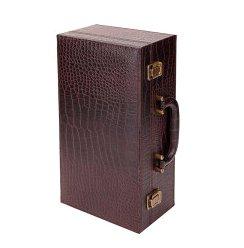 鳄鱼皮纹双支横礼盒1个