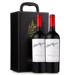 美国进口 加州乐事LOT1933赤霞珠干红葡萄酒750ml*2瓶礼盒装