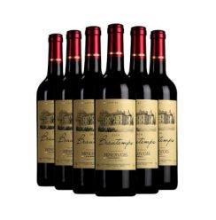 法国原瓶进口红酒葡萄酒 宝怡法国AOC级干红葡萄酒整箱红酒750ml*6送礼大气金色标