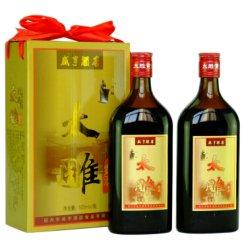 咸亨酒店 太雕酒 500ml*2瓶装礼盒 半甜型花雕手工糯米加饭老酒 绍兴黄酒