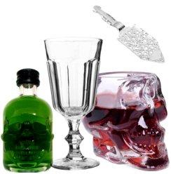 绿魔小酒  89.9度苦艾酒绿魔苦艾酒  酒版 单瓶带酒具