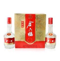 安久酒业 白酒 金六福 浓香型  金六福52度礼盒礼品酒500ml*2
