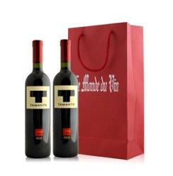 意大利 比吉 特曼迪干红葡萄酒双支礼袋装