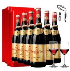 【超级粉丝日】也买酒 桃乐丝格兰公牛血金标干红葡萄酒 西班牙原瓶进口红酒 750mlx6 整箱装