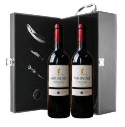 法国原瓶进口红酒 CASTEL卡斯特洣瑞波尔多AOC窖藏干红葡萄酒双支礼盒2*750ml
