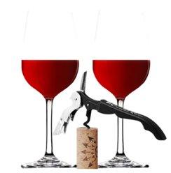 【威赛帝斯】【赠品 单独下单不予发货】红酒 葡萄酒酒杯2个+海马酒刀1把(赠品套装)