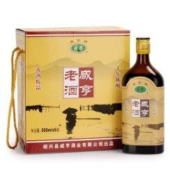 咸亨 绍兴黄酒 精品十年陈酿 半甜型 500ml*6瓶 整箱装