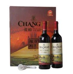 【京东超市】张裕(CHANGYU)红酒 金色葡园双支礼盒 750ml*2