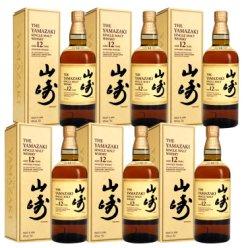 【海荟码头】洋酒日本原装进口 三得利(Suntory)威士忌系列组合装 三得利山崎12年单一麦芽威士忌700ml*6瓶