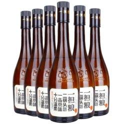 白酒 北京一担粮二锅头 挑担老人逗号经典款清香型480ml*6