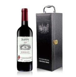 法国原瓶进口红酒 巴菲波尔多AOC级干红葡萄酒750ml*1 经典款单皮盒
