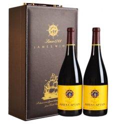 澳洲进口红酒 詹姆士船长美露干红 750ml*2瓶 礼盒装