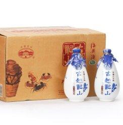 绍兴黄酒 古越龙山库藏八年陈品蟹花雕酒整箱500mlx6瓶 (礼盒装x3盒)