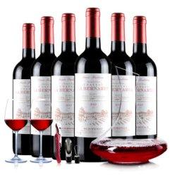 法国进口红酒 波尔多拉宝干红葡萄酒 2012原装原瓶进口 AOC红酒礼盒套装 750mL*6 六瓶装