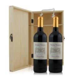 法国 奴多勒奥维德干红葡萄酒双支松木礼盒装