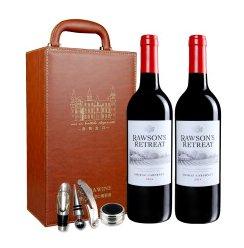 洛神山庄设拉子加本力干红酒葡萄酒750ml*2 双皮盒 礼盒红酒