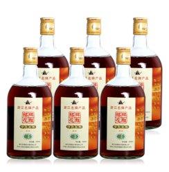 黄酒花雕酒绍兴酒糯米酒 半干型加饭酒 可泡阿胶 清爽五年 500ml*6瓶整箱