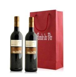 红酒客 德国 索玛瑞哈华伦天奴系列瑞金特果香型红葡萄酒礼袋