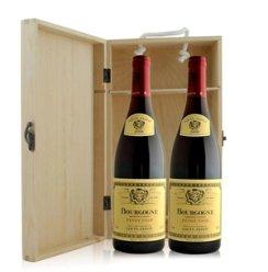 法国 路易亚都世家勃根蒂干红葡萄酒双支松木礼盒装