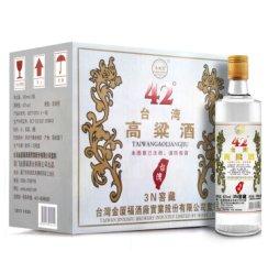 五缘湾 白酒 浓香型粮食酒 台湾高粱酒 三N窖藏 42度 500ml*12瓶 整箱装 (新老包装随机发货)