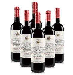 法国原瓶进口红酒 查特娜塔莉波尔多干红AOC级葡萄酒750ml*6整箱