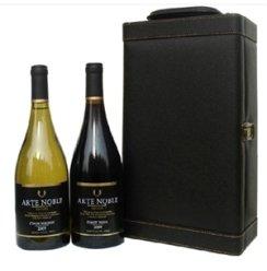 【俺买酒】智利黑皮诺干红+霞多丽干白葡萄酒750ml*2支装 高档红酒礼盒