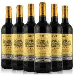 法国进口红酒 乐骑士西拉干红葡萄酒 750ml*6瓶